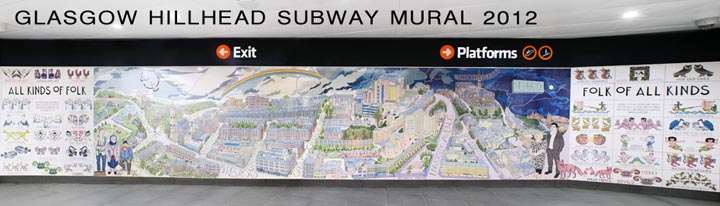 Glasgow Hillhead Subway Mural 2012